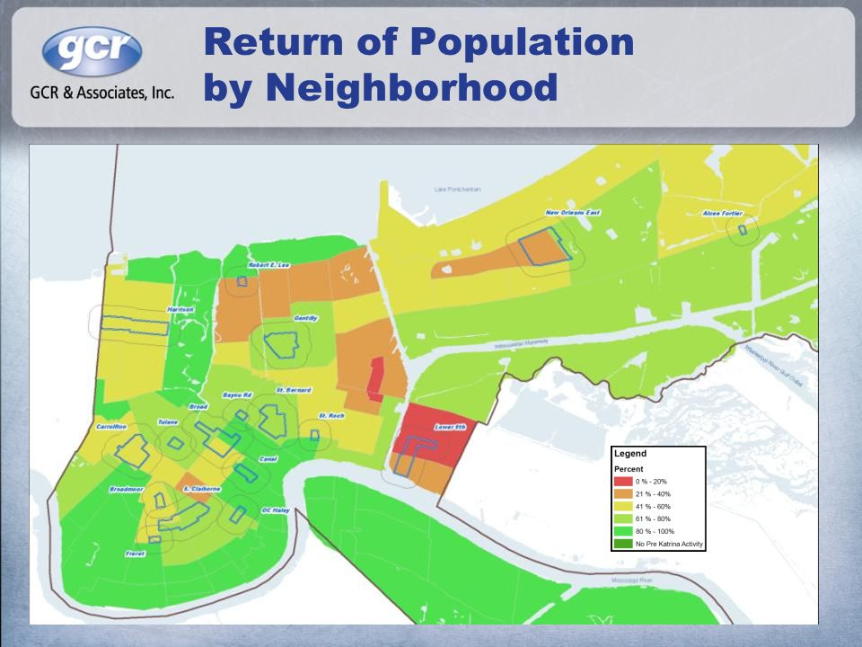Return of Population by Neighborhood