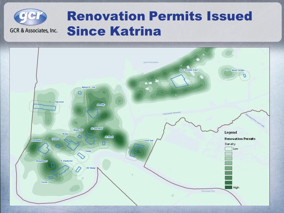 Renovation Permits Issued Since Katrina