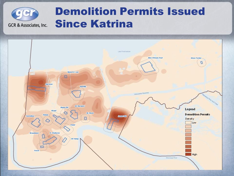 Demolition Permits Issued Since Katrina