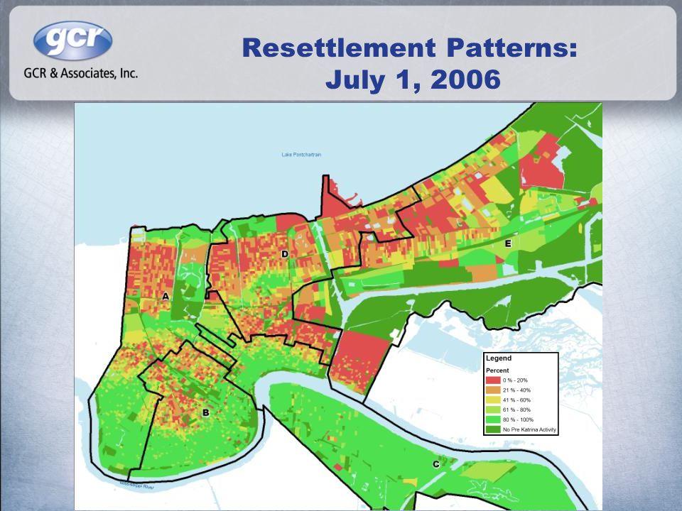 Resettlement Patterns: July 1, 2006