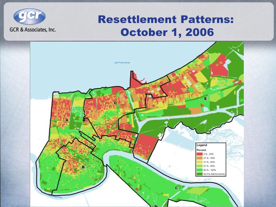 Resettlement Patterns: October 1, 2006