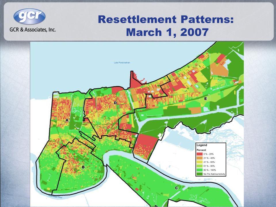 Resettlement Patterns: March 1, 2007