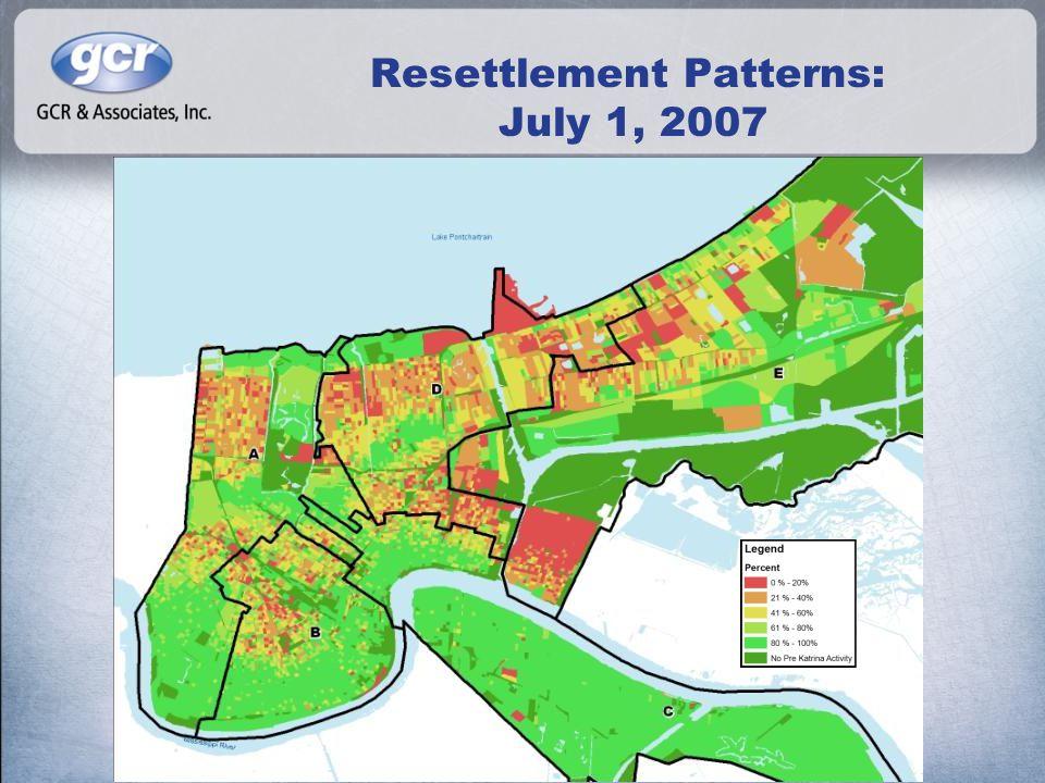 Resettlement Patterns: July 1, 2007