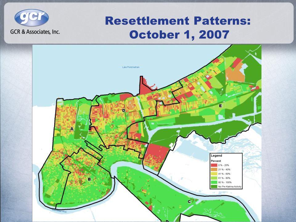 Resettlement Patterns: October 1, 2007