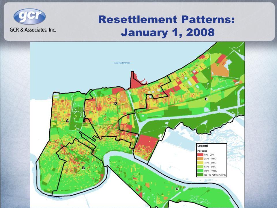 Resettlement Patterns: January 1, 2008