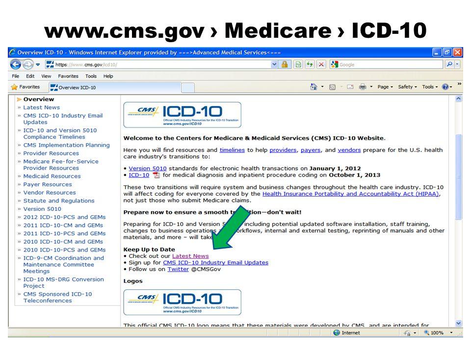 www.cms.gov › Medicare › ICD-10