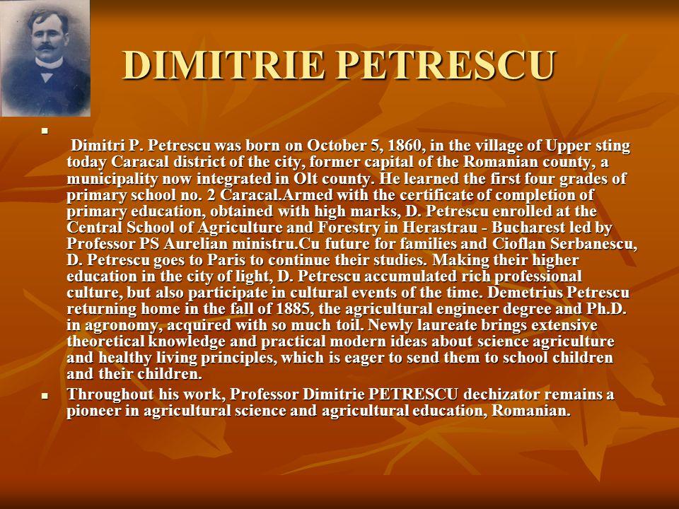 DIMITRIE PETRESCU Dimitri P.