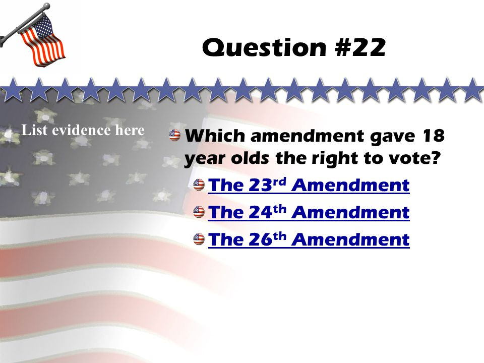 Question #21 Sorry, you are wrong! Go to correct answer