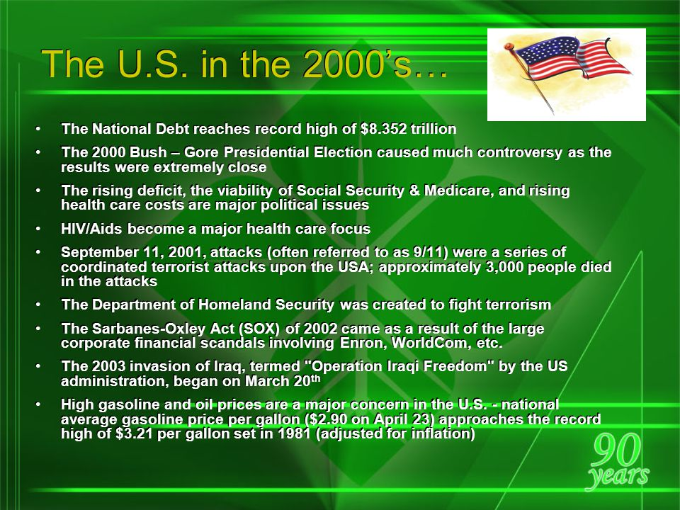 Agriculture Legislation of the 1990's… The Federal Agriculture Improvement & Reform Act of 1996, a milestone in U.S.