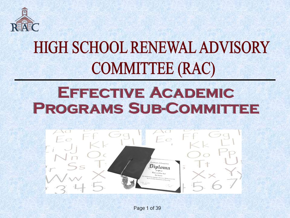 Page 1 of 39 Effective Academic Programs Sub-Committee