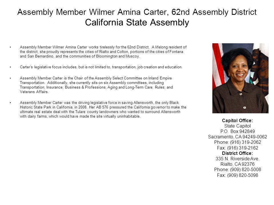 State Assembly Member Karen Bass A.B.