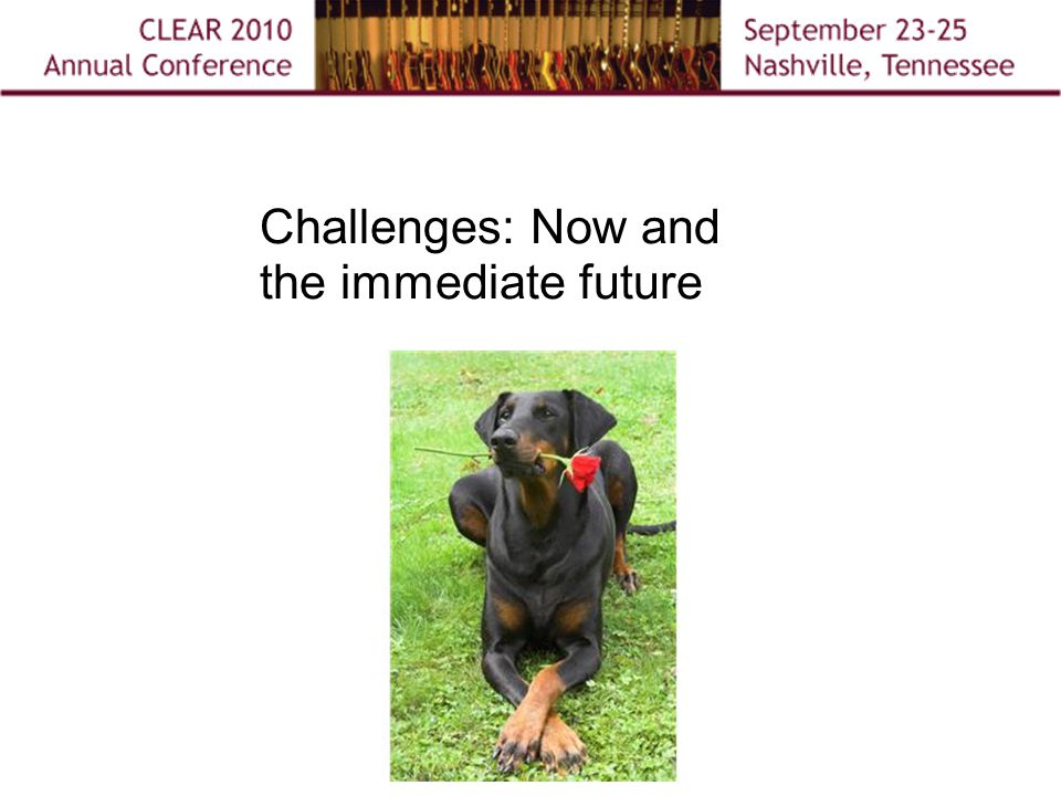 Challenges: Now and the immediate future