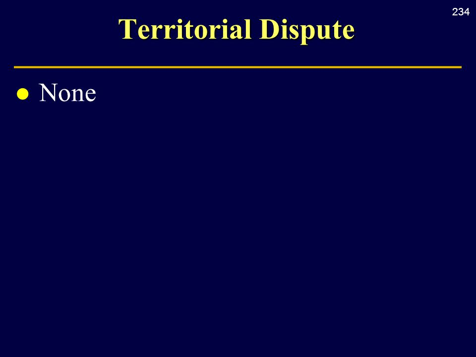 234 Territorial Dispute l None