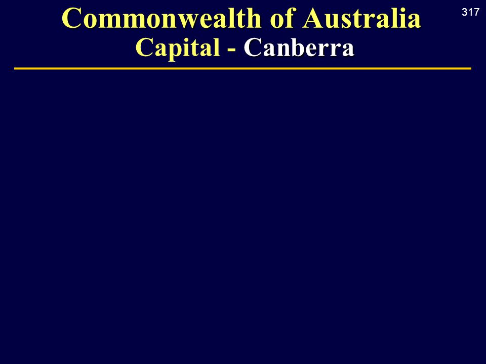 317 Commonwealth of Australia Canberra Commonwealth of Australia Capital - Canberra