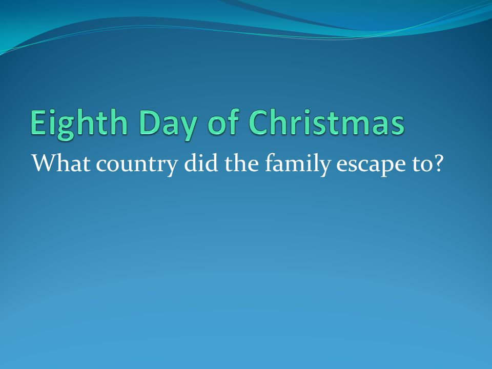 What country did the family escape to