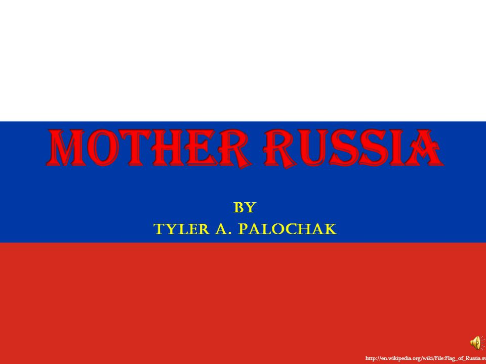 By Tyler A. Palochak http://en.wikipedia.org/wiki/File:Flag_of_Russia.svg