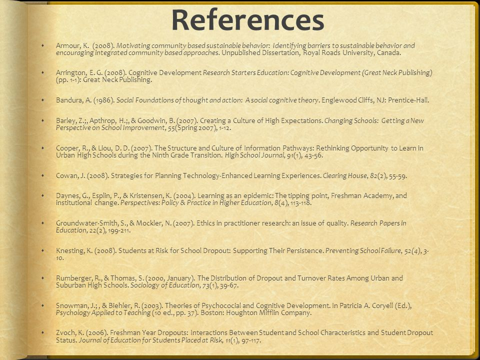 References  Armour, K.(2008).