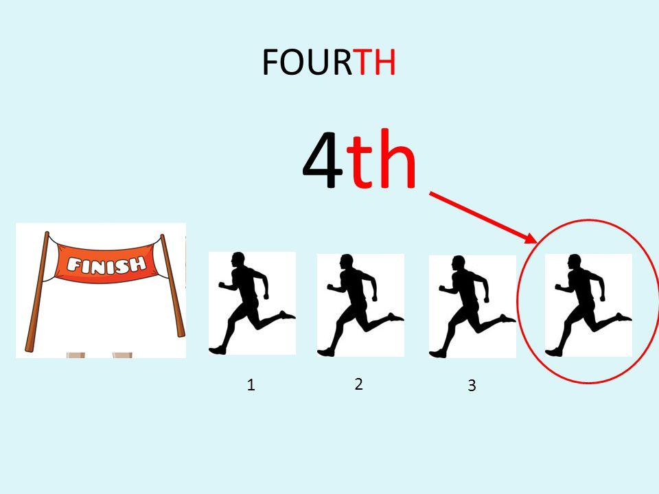 FOURTH 4th 2 3 1