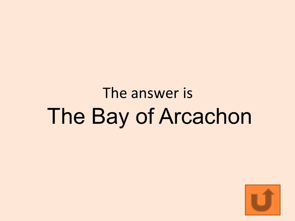 The answer is The Bay of Arcachon