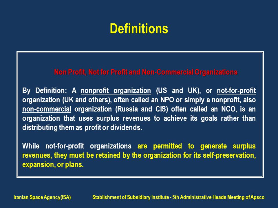 5 Definitions continued...