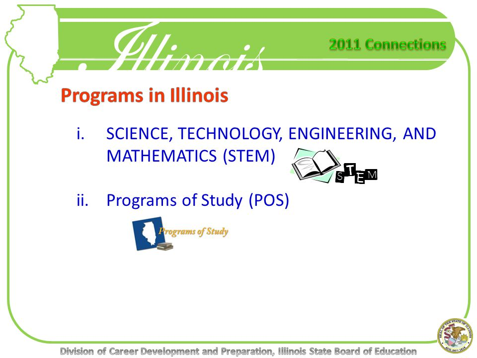 i.SCIENCE, TECHNOLOGY, ENGINEERING, AND MATHEMATICS (STEM) ii.Programs of Study (POS)