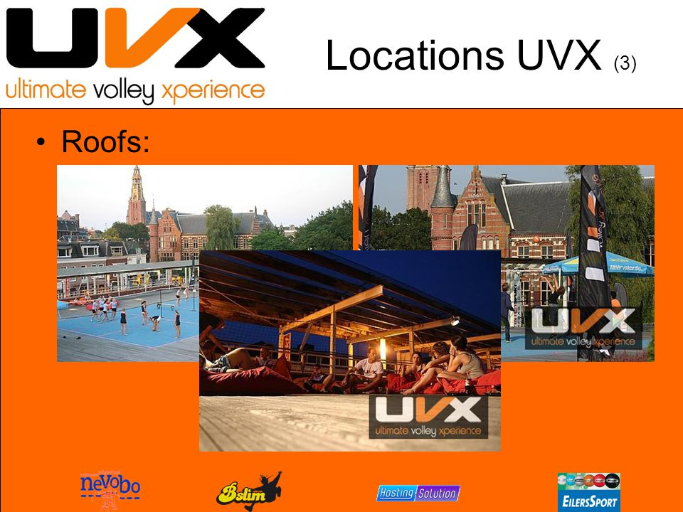 Locations UVX (3) Roofs: