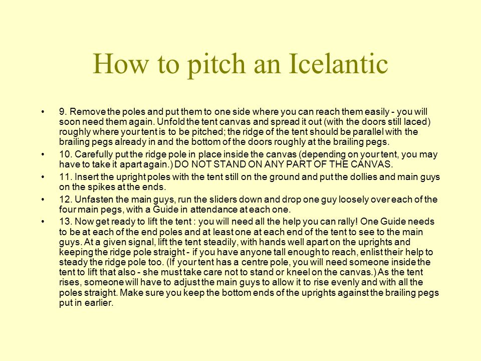 How to pitch an Icelantic 9.