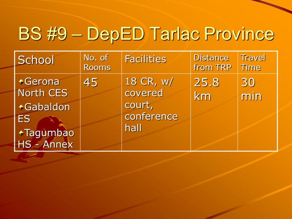 BS #9 – DepED Tarlac Province School No.