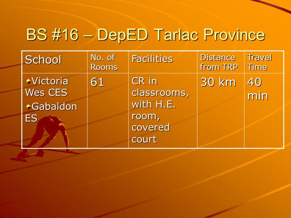 BS #16 – DepED Tarlac Province School No.