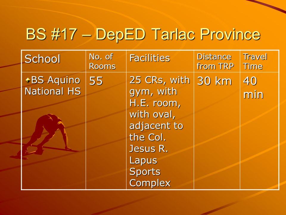 BS #17 – DepED Tarlac Province School No.