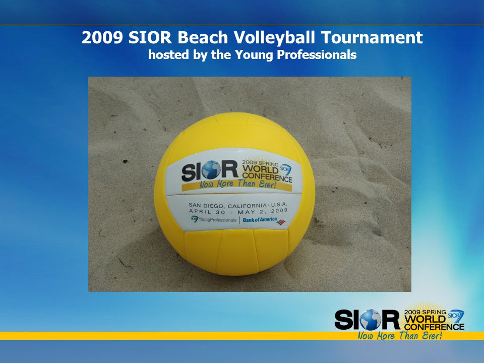 2009 SIOR Beach Volleyball Tournament hosted by the Young Professionals