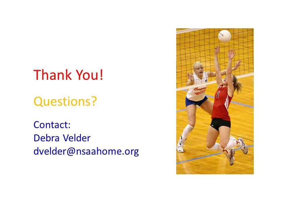 Thank You! Questions Contact: Debra Velder dvelder@nsaahome.org