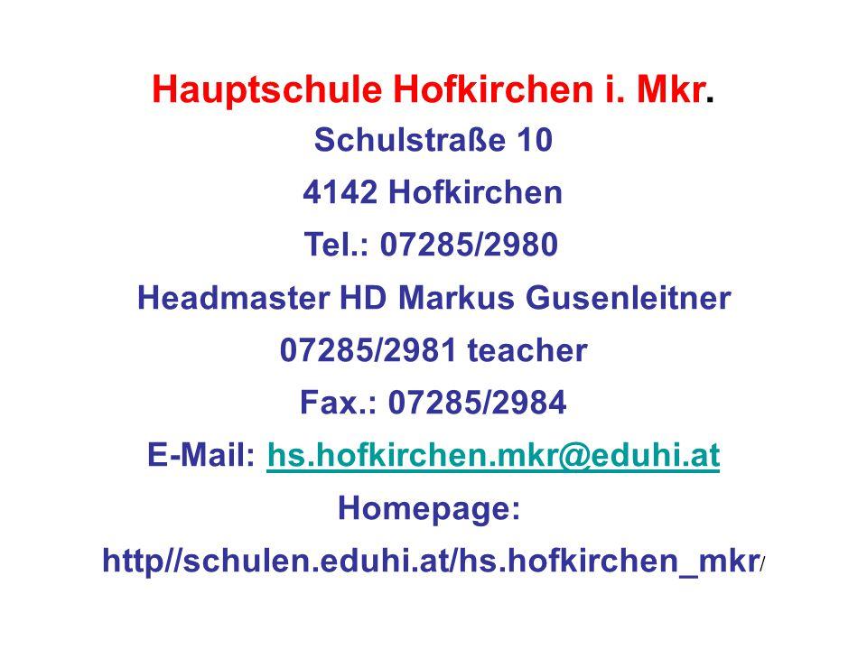 Hauptschule Hofkirchen i. Mkr.