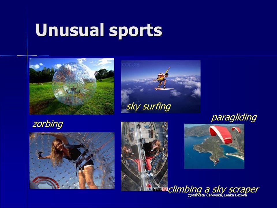 ©Markéta Čeřovská, Lenka Lexová Unusual sports zorbing sky surfing climbing a sky scraper paragliding