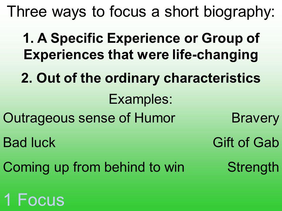 1 Focus 1.