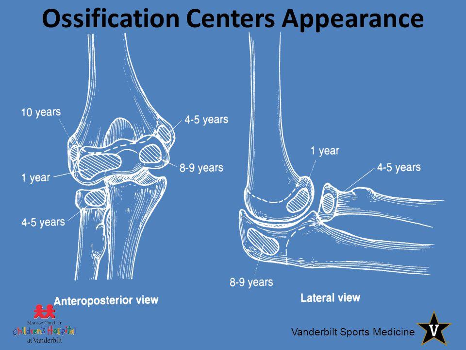 Vanderbilt Sports Medicine Ossification Centers Appearance