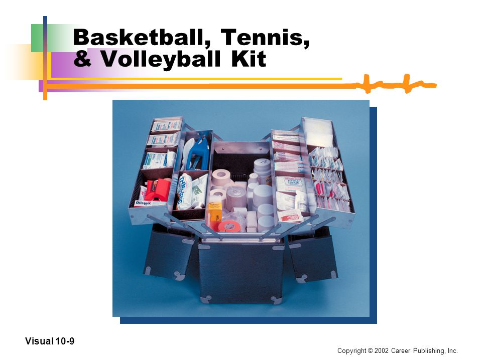 Copyright © 2002 Career Publishing, Inc. Visual 10-8 First Aid Kit for Transport Vehicles