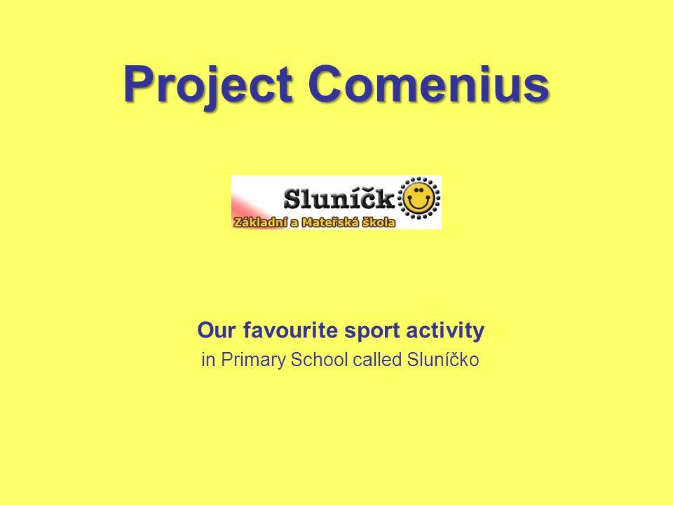 Project Comenius Our favourite sport activity in Primary School called Sluníčko