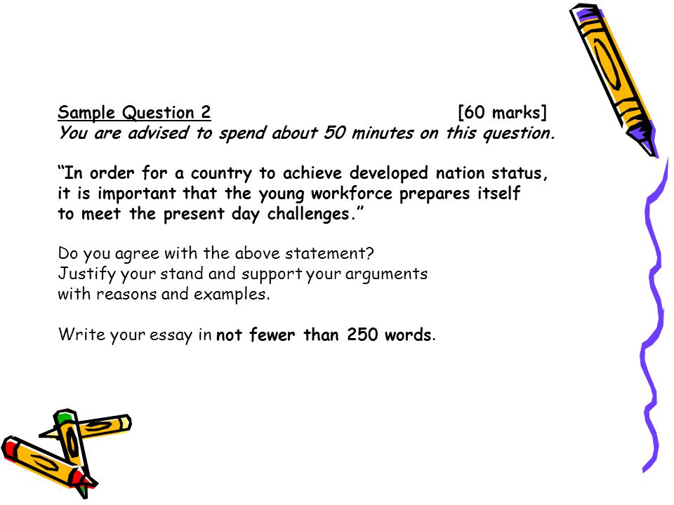 Sample Question 2 [60 marks] You are advised to spend about 50 minutes on this question.