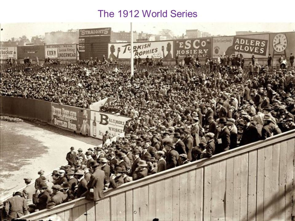 The 1912 World Series