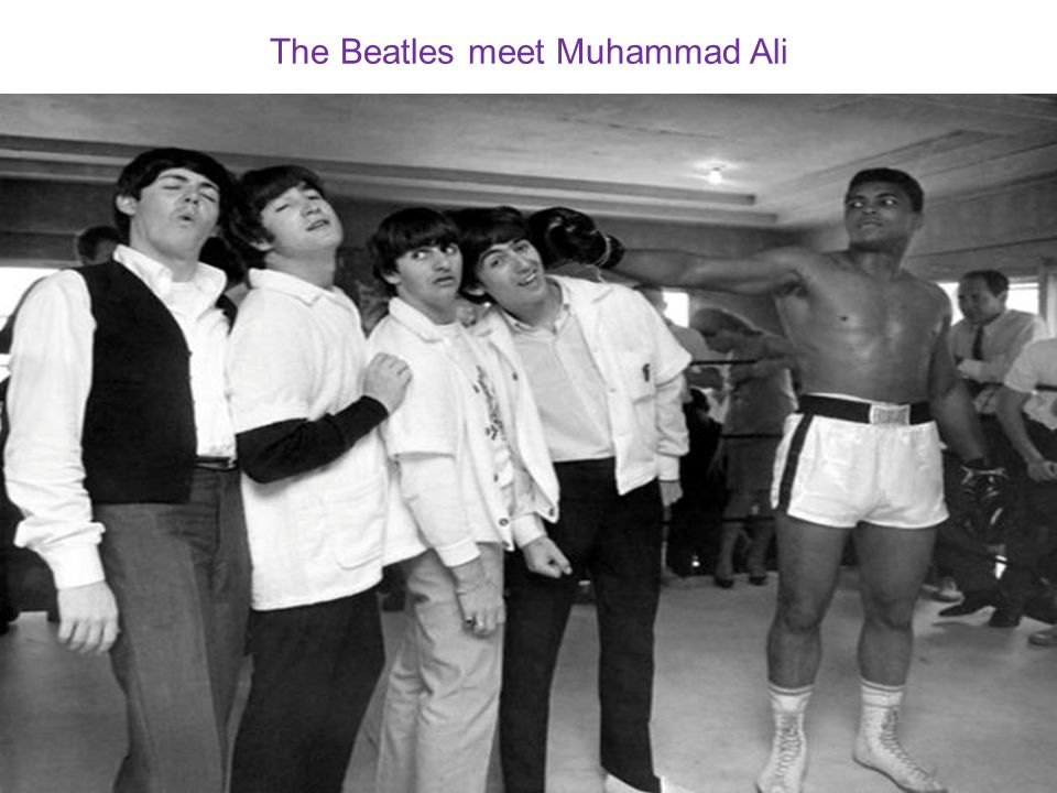 The Beatles meet Muhammad Ali