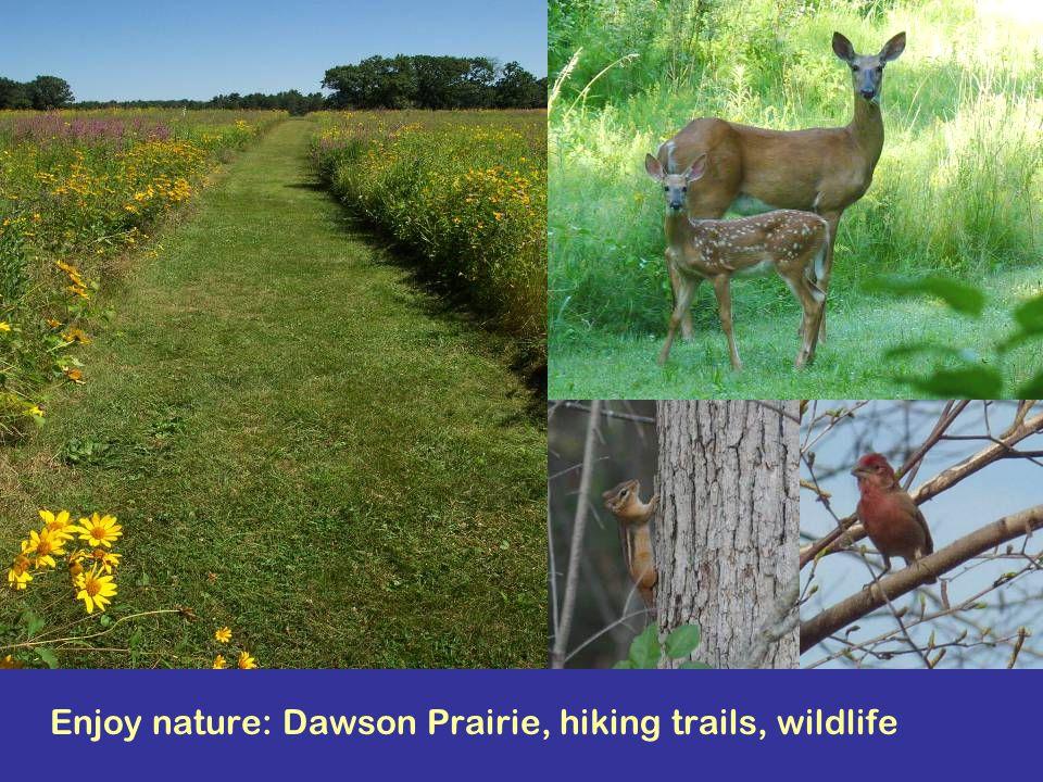 Enjoy nature: Dawson Prairie, hiking trails, wildlife
