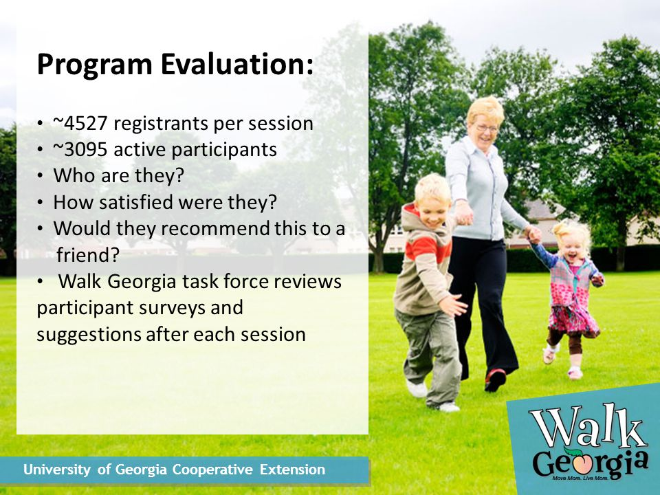 Program Evaluation: ~4527 registrants per session ~3095 active participants Who are they.