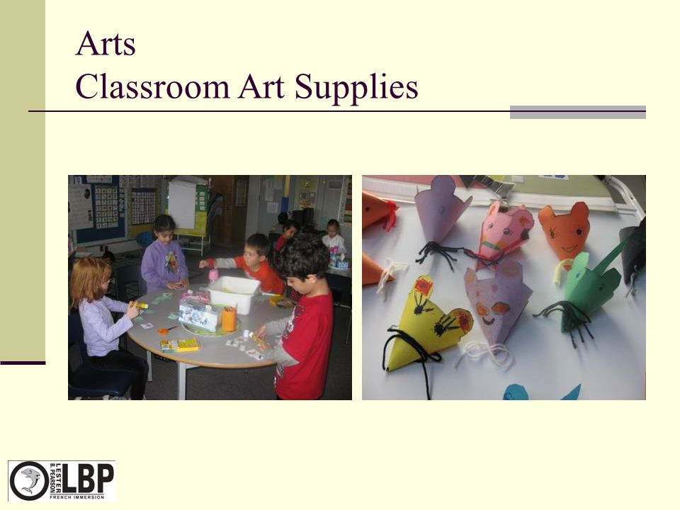 Arts Classroom Art Supplies