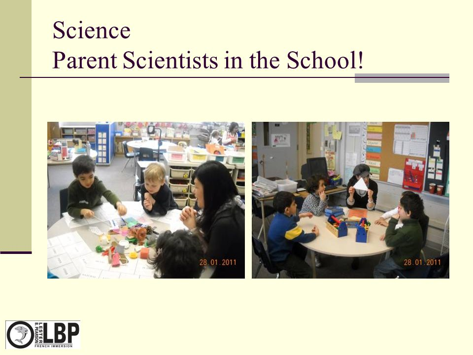 Science Parent Scientists in the School!