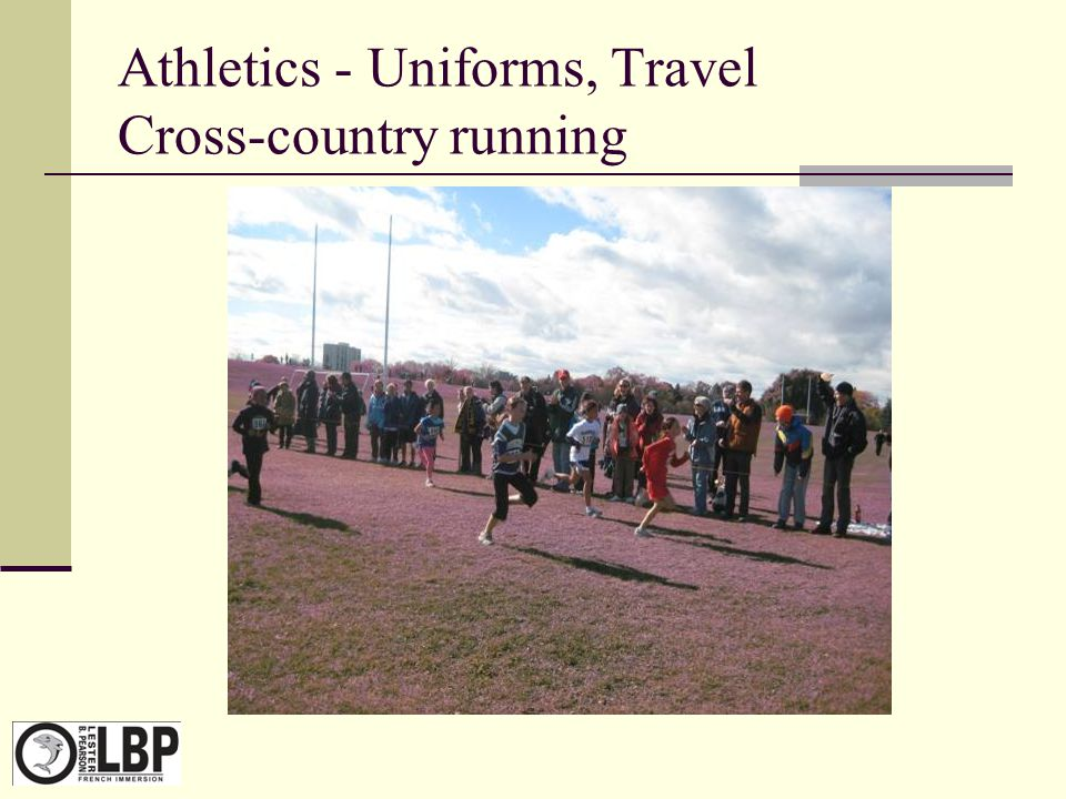 Athletics - Uniforms, Travel Cross-country running