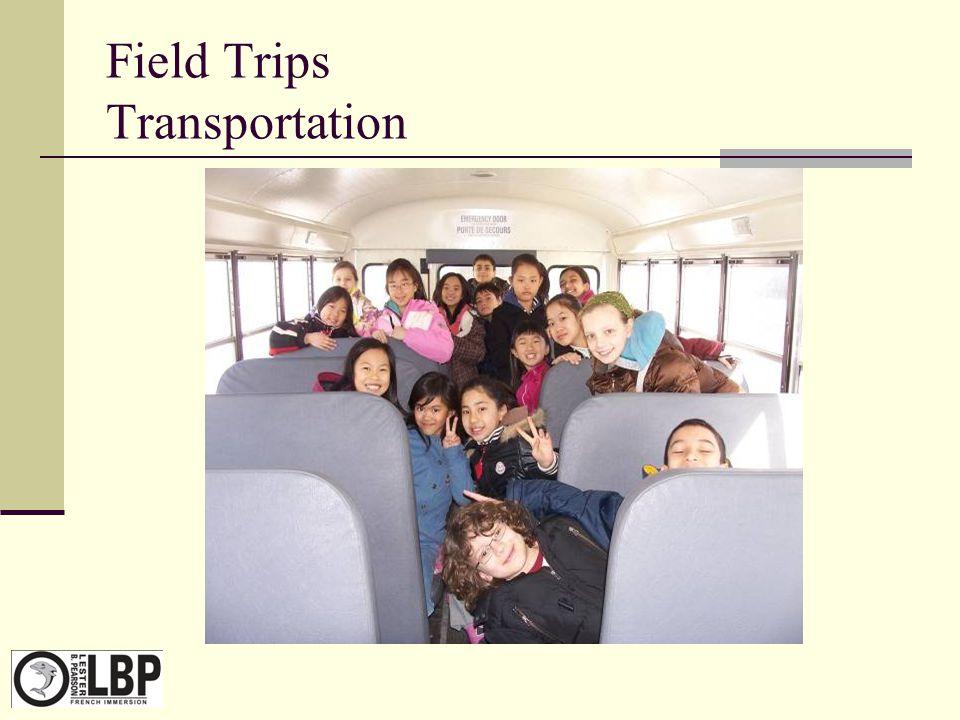 Field Trips Transportation