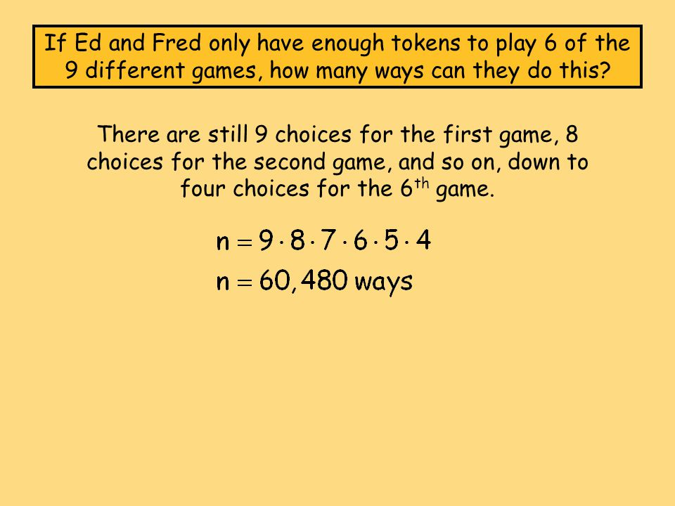 This is also known as a factorial, written as 9.Factorials are very easy things.