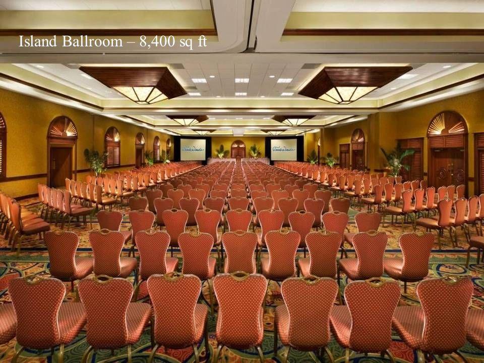 Island Ballroom – 8,400 sq ft