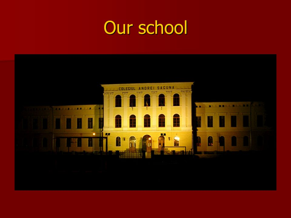 Because of the long way through history and time, our school has a prestigious name and interesting traditions.